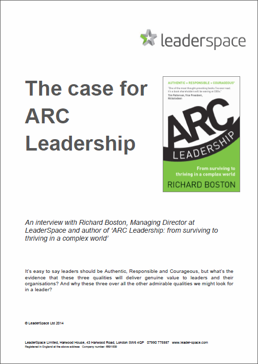The Case for ARC Leadership document