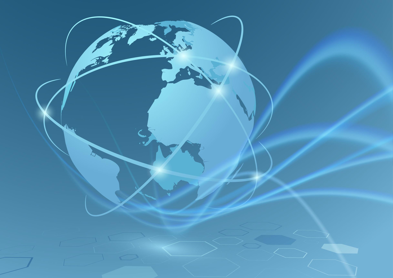 Blue globe image